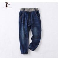 KungFu Ant 2017 New Arrival Europejski Styl Kieszenie Jeans Spodnie męskie Jeansowe Spodnie Na Co Dzień Wiosny Dzieci Chłopcy 71411