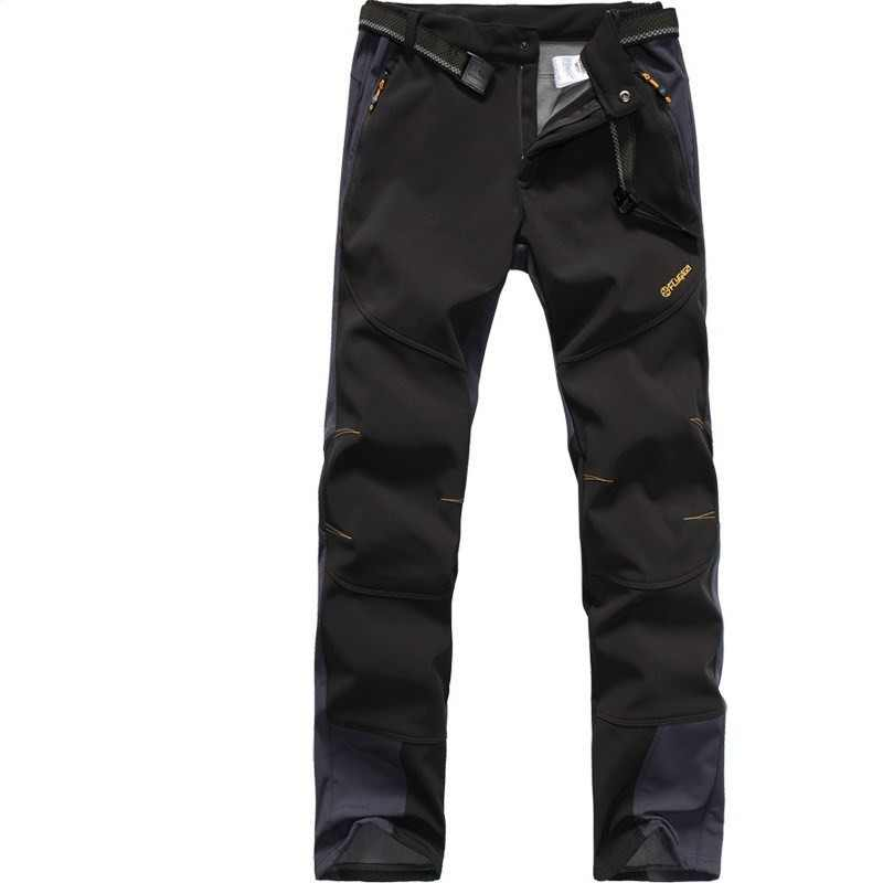 4f5feb1a720 Male Camping Hiking Winter Outdoor Sport Pants Warm Waterproof Plus thick  velvet Windproof Fishing Pants Women