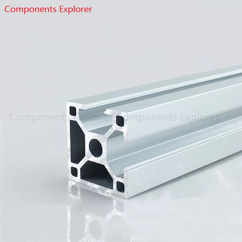 Arbitrary Cutting 1000mm 3030 Two Edges Aluminum Extrusion Profile,Silvery Color.