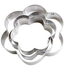 3PCS/SET Baking Mould Flower Shaped Cookie Cutter Stainless Steel Egg Mould Fondant Sugarcraft Cutter Biscuit DIY Mold