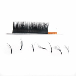 Image 5 - Ombre color magic lashes 1 case 6rows  new arrived bloom eyelash easy fan lashes self making fan bloom faux mink eyelash
