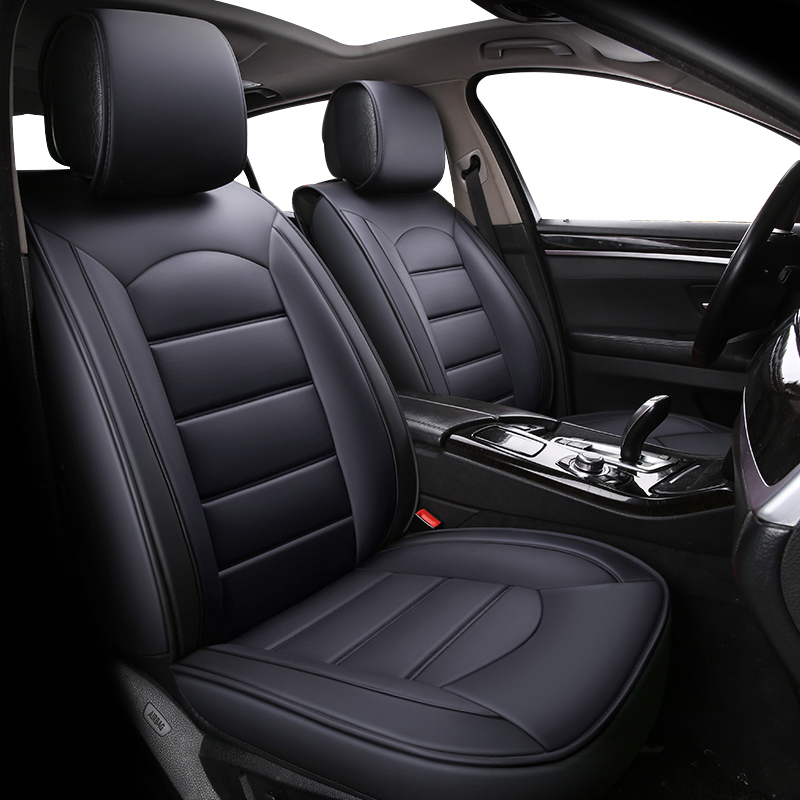 For Vauxhall Corsa D - Single Heavy Duty Driver Captain Passenger Van Car Seat Cover Protector Waterproof BLACK 1 x Front