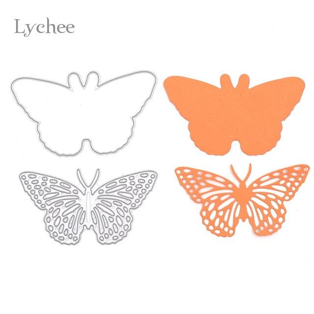 Lychee 1 Set Butterfly Frame Metal Scrapbooking Die Cuts Craft ...