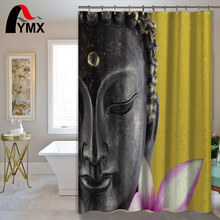 Buddha Statue Waterproof Shower Curtain Bathroom Curtain Polyester with 12 Hooks Bath Shower Products Home Decorative mermaid sequins waterproof polyester shower curtain with hooks