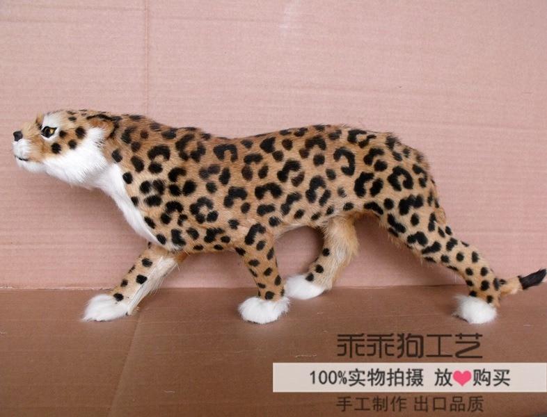 simulation cute leopard 55x10x19cm model polyethylene&furs leopard model home decoration props ,model gift d856 large 24x24 cm simulation white cat with yellow head cat model lifelike big head squatting cat model decoration t187