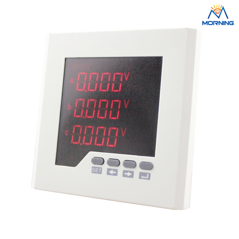 3D2-4I4O panel size 120*120mm ac 4 switch input and 4 switch output three phase digital multifunction meter d2y panel size 120 120 low price and high quality lcd single phase digital multifunction meter for distribution box