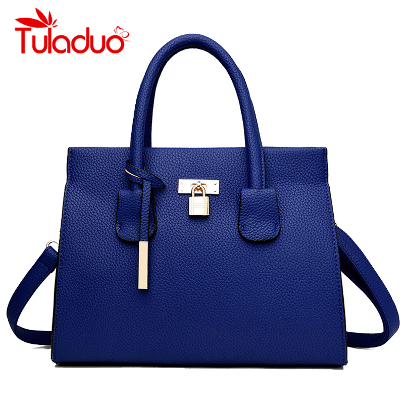 Women Shoulder Bags Leather Lock Casual Totes Bags Brand Designer Ladies Handbags Luxury Saffiano Bags New Female bolsa feminina 2017 new women shoulder bags solid pu leather handbags ladies brand designer bucket handbag purse bolsas feminina casual totes