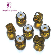 Shangquan AAA Crystal Round Bead Supply Diy Big Column Shape 50pcs/lot 12mm Glass Loose Beads For Jewelry Making