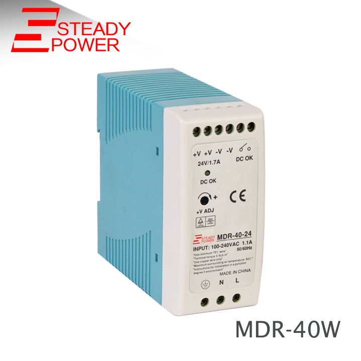 MDR-40W Single output Din Rail <font><b>AC</b></font> 220V to 12v <font><b>DC</b></font> 3.3A 40W / <font><b>24V</b></font> <font><b>1.5A</b></font> switching power supply image