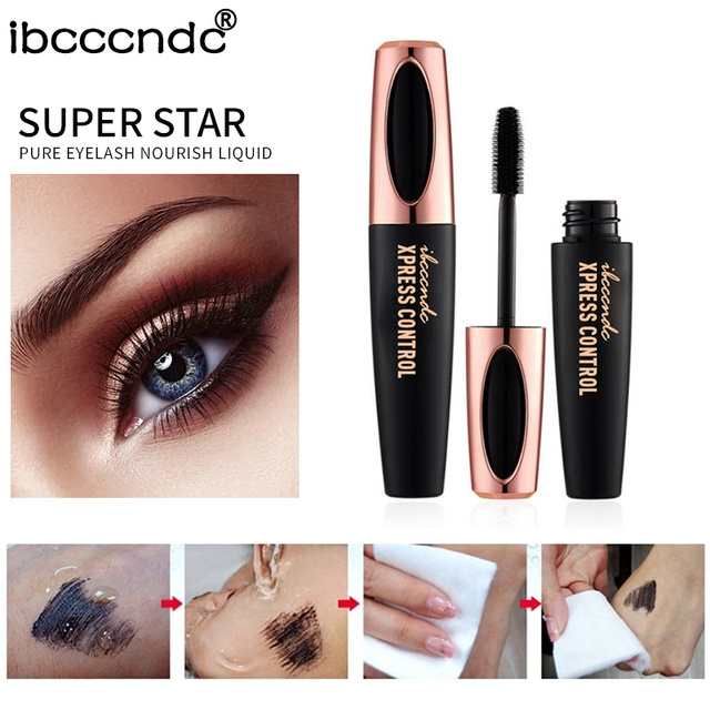 New 4D Silk Fiber Lash Mascara Waterproof Rimel 3d Mascara For Eyelash Extension Black Thick Lengthening Eye Lashes Cosmetics 5