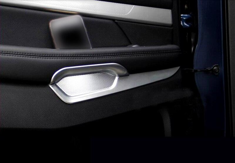 Carbon Fiber Car Inner Door Armrests Decorative Trim For Ford Explorer 2016-2018