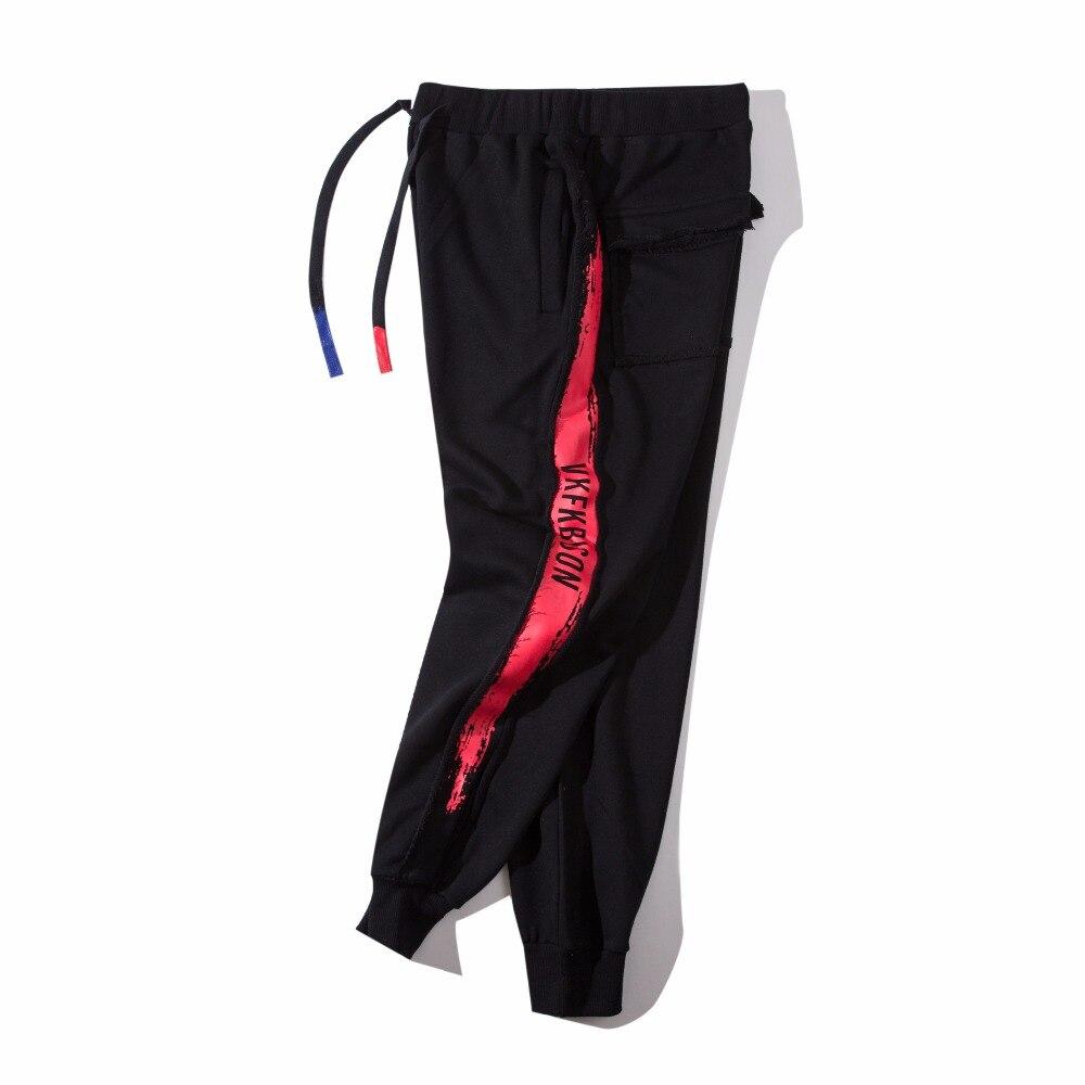HZIJUE 2018 Spring summer Men Fashion Joggers long pants Hip Hop design sweatpants for studert Mens Full Length Pants US Size