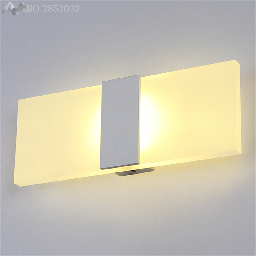 Modern Glass Wall Lamps Led Wall Light for Bathroom Bedroom Bedside ...