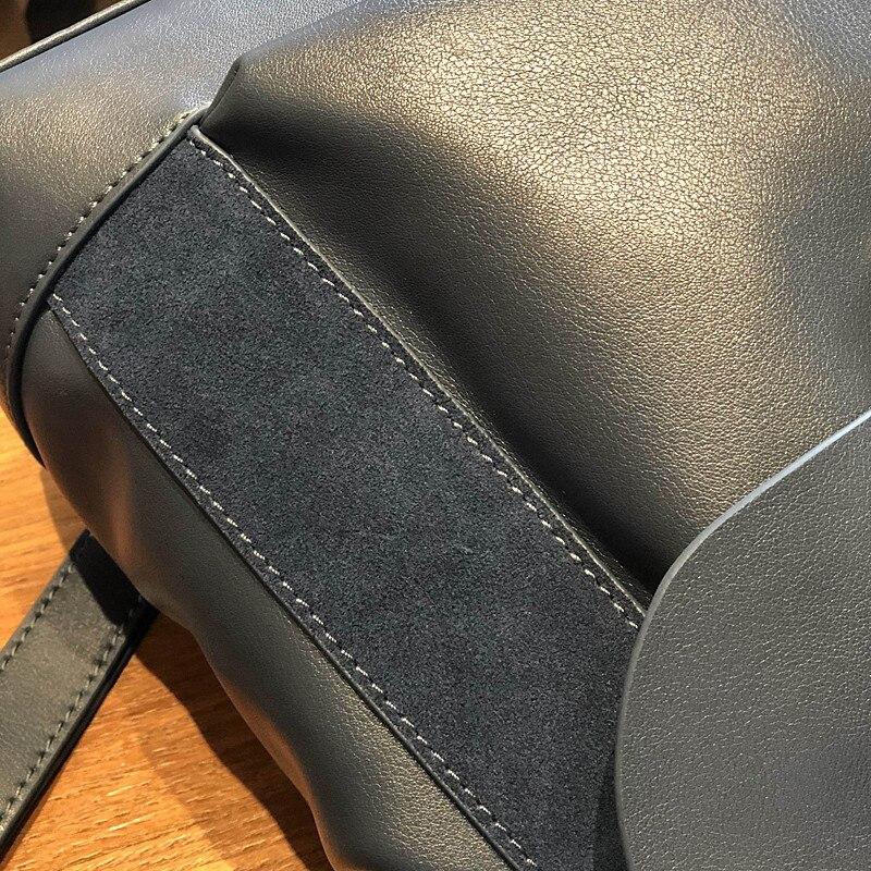 À Grande En bourgogne Mode Capacité Dames Cuir Sac Conception Dos Souple Originale Simple Deux Nouveau De Sauvage bleu 9383 couche nu Noir Alavchnv OaAwq4
