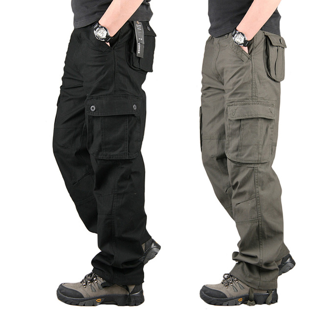 7c0c2f805bb Tactical Cargo Pants Mens Overalls Work Military Pants Pantalones SWAT  Camouflage Army Sweatpants Loose Trousers Plus