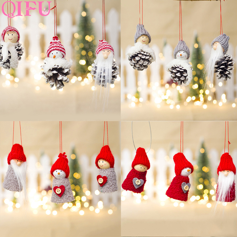 qifu pinecones christmas decorations for home 2018 christmas tree decorations for tree christmas elf dolls decor noel new year