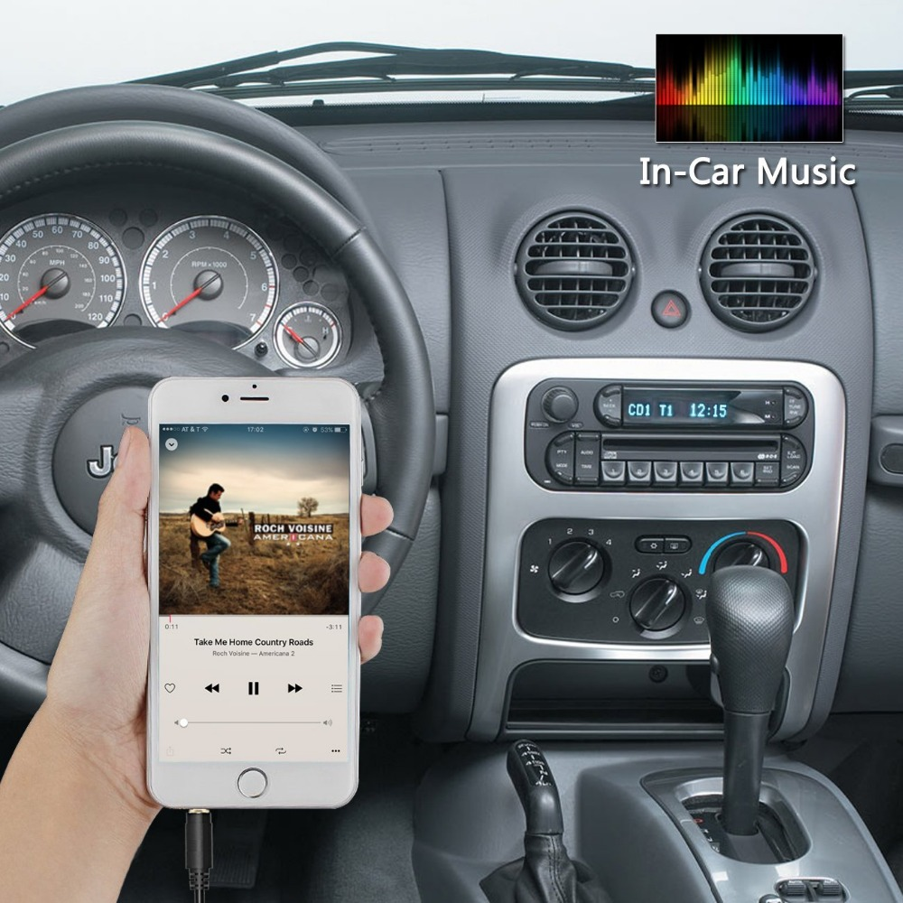 US $32 95 |Car Stereo AUX Adapter Auxiliary Input Mp3 Interface for Jeep  Grand Cherokee Liberty Wrangler 2002 2004-in Car MP4 & MP5 Players from