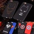 Marca superman batman iron man caso para iphone 6 plus 6 s 7 más 5 5S SÍ Mate Duro Cajas Del Teléfono Bolsa Contraportada Fundas Capa Coque