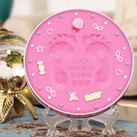 0cm In Diameter Large Space Baby Hand Footed Printing Mud Set Newborn Baby Hand And Foot