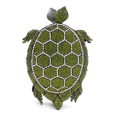 tortoise shape studded diamond clutch bags Luxury women crystal evening bag prom clutch purse wedding bag