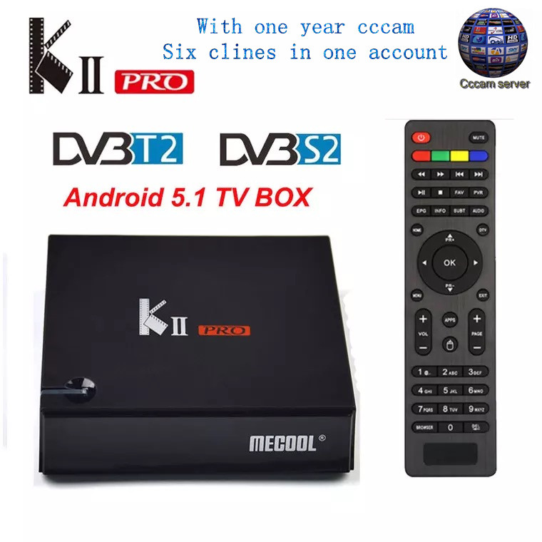 KII PRO DVB-S2 DVB-T2 S905d Android 7.1 TV Box Quad Core 2GB 16GB K2 pro DVB T2 S2 4K Media player NEWCAMD Dual Wifi BT4.0 K2PRO цена 2017