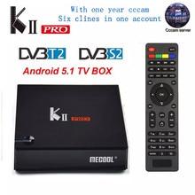 KII PRO DVB-S2 DVB-T2 S905d Android 7.1 TV Box Quad Core 2GB 16GB K2 pro DVB T2 S2 4K Media player NEWCAMD Dual Wifi BT4.0 K2PRO