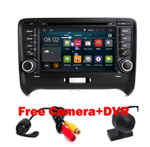 In Stock 2 Din Car DVD Player for Audi TT Android 5.1 GPS Navigation Wifi 3G 1024X600 Bluetooth Radio RDS USB SD Free camera+DVR