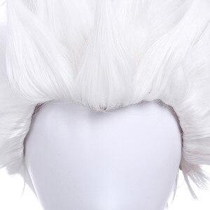 Image 5 - L email 가발 게임 운명 체재 밤 emiya cosplay 가발 28 cm/11.02 inch 백색 내열성 짧은 합성 머리 perucas cosplay 가발