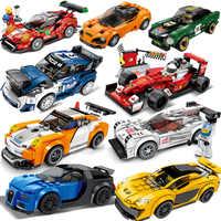 Super Compatibile Legoed Velocità Champions Modello di Auto Da Corsa Blocchi di Costruzione Mattoni Giocattoli Per Bambini Set Kit Regalo dei bambini Set
