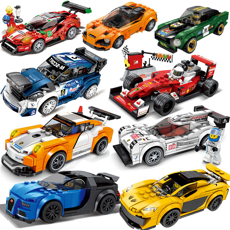 Super Compatible Legoed Speed Champions Car Model From Corsa Building Blocks Mattoni Children Toys Set Kit Children's Gift Set