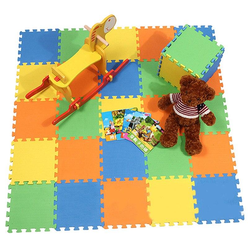 10 шт./лот детская пена EVA игра-головоломка коврик противоскользящим коврик для детей разработка Ползучая ковры, детские игры, каждый 30 см * 30 ... ...