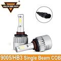 Auxbeam Fichas COB Coche Kits de Faros de Conducción del Led Coche Bombillas 9005/HB3 enchufe solo haz lámparas de la niebla para honda 12 v 24 v 6500 k 72 w/pair