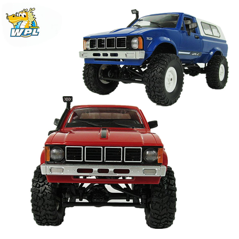 WPL C-24 Jeep 4WD RC CAR Remote Control Toy 1:16 Model Car 2.4G OFF-Road RC High Speed Truck RTR Car for Child rc electric toy car 1 24 l333 high speed off road buggy radio remote control rtr rock rover rc toy model child best gift toy