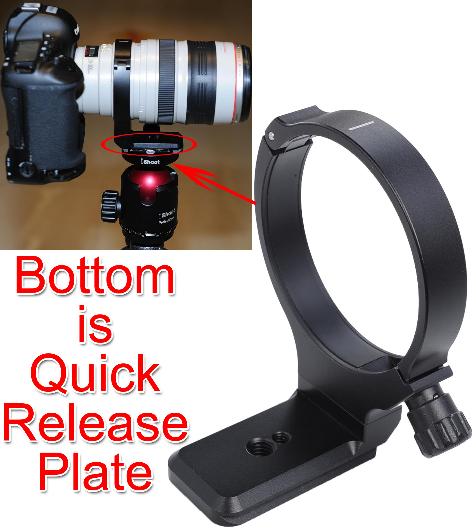 Latest Metal Lens Support Collar Tripod Mount Ring for Canon EF 28 300mm f 3 5