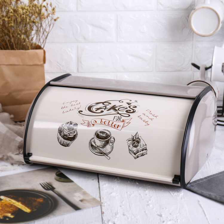 Bread Box Storage Fine Iron Food Storage Container 31*21.5*15cm 1-2liter Food Snack Gifts Durable High-Quality Thickness Kitchen