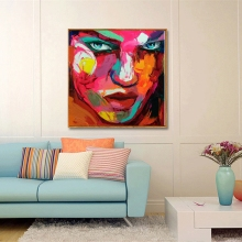 High Quanlity Designer Francoise Nielly Cool  Abstract Face Wall Art painting Decoration Oil Painting Suppliers