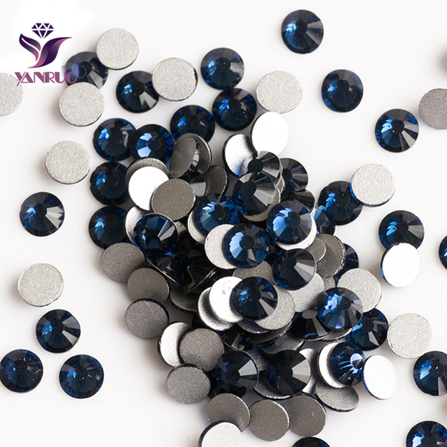 YANRUO Montana Color Non Hotfix Crystals Flat back Rhinestones Finding Beads  Crystals for Dresses DIY Top Shiny Stones fc74979bc556