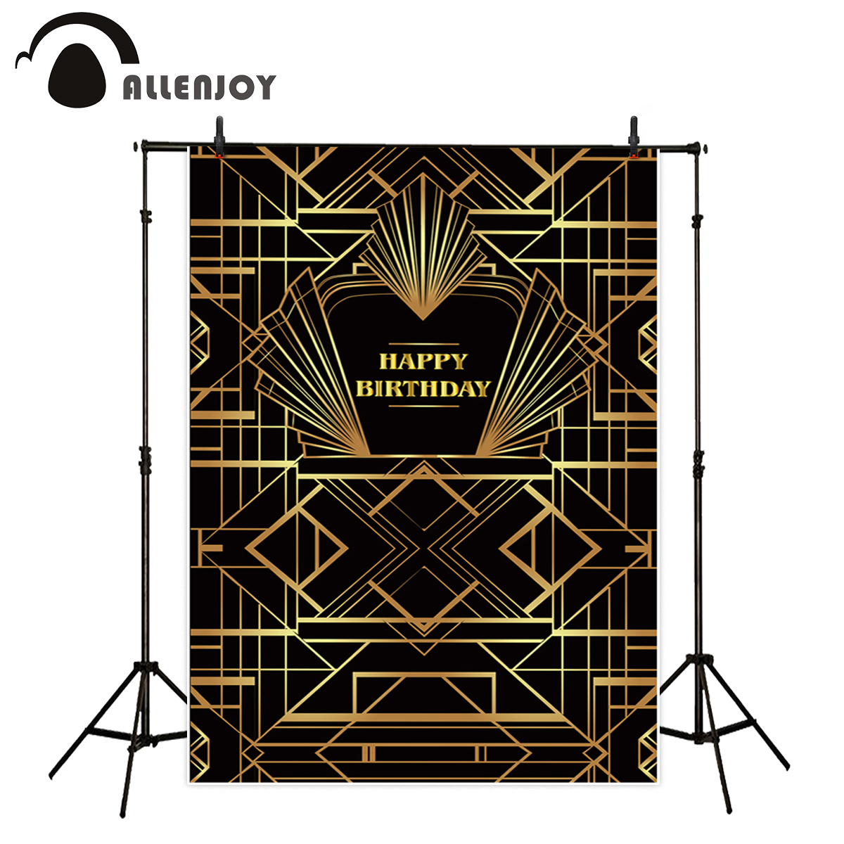 Allenjoy background for photo studio Gatsby Birthday Party kids background for photography original design customize photocall photography children s background birthday cake gift present greeting photocall customize cute studio photo prop