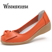New Fashion Women Flat Shoes 2015 Comfortable Women Genuine Leather Flats Spring Autumn Casual Loafers Sapato