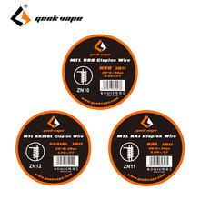 GeekVape MTL Clapton Wire 10ft SS316L/ KA1/ N80 E-cig DIY Spare Parts for For MTL RDA / RTA Atomizer Tank Great Flavor