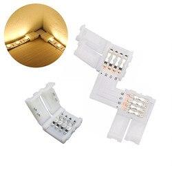 5 шт./лот, разъем для светодиодной ленты, 2 контакта, 4 контакта, 5 контактов, 8 мм, 10 мм, 12 мм, бесплатные сварочные разъемы, быстрый разветвитель,...