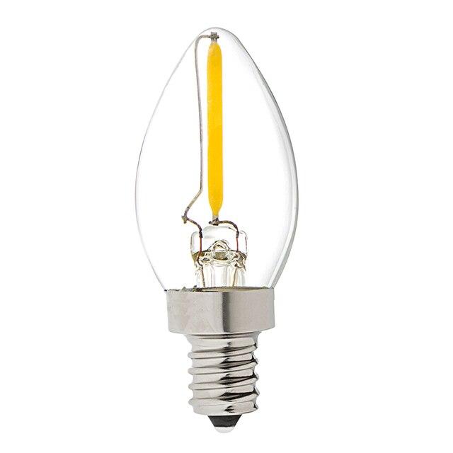C7 Vintage LED Filament Light Bulb,1W Equivalent to 10w Incandescent ...