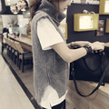 new fashion autumn winter women Sleeveless Turtleneck Solid color sweater female knitted pullover vest tops clothing