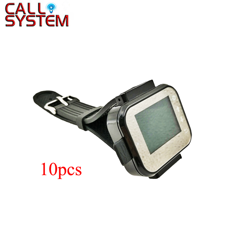 10pcs wrist watch receiver Wireless Waiter Call System for restaurant cafe shop