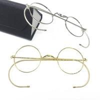 Vintage Antique Round Wire Rim Eyeglass Frames Full Rim Ear Hooks Myopia Rx able Glasses Brand New Good Quality