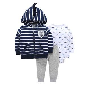 Image 5 - Cartoon bär baby junge mädchen kleidung fleece langarm mit kapuze mantel + body + hose für neugeborenen set 2019 outfit baby kleidung anzug