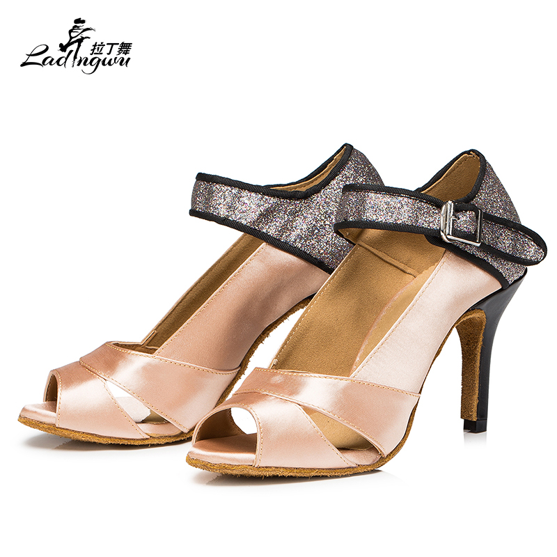 Women Dance Shoes Satin Flash gold Comfortable soft bottom shoes Latin Tango Salsa Ballroom shoes Ladies Party Dance ShoesWomen Dance Shoes Satin Flash gold Comfortable soft bottom shoes Latin Tango Salsa Ballroom shoes Ladies Party Dance Shoes