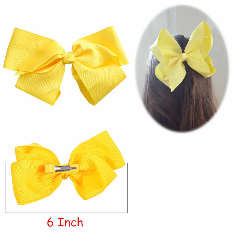 M MISM 6 Inch Kids Big Ribbon Bow Hair Clips For Girls Children Kawaii Hairpins Holiday Princess Haarspeldjes Voor Meisjes New