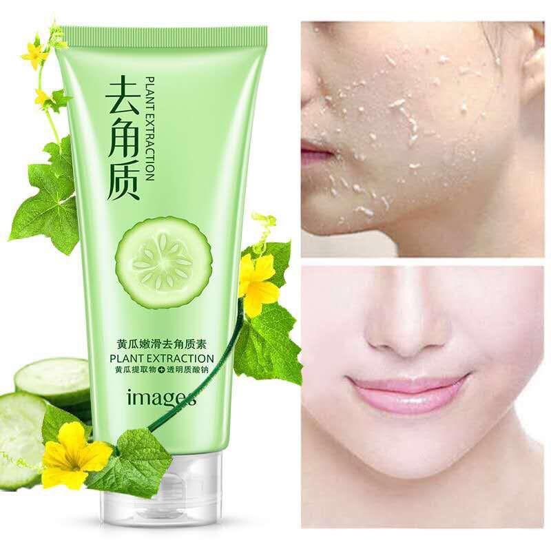 cucumber Peeling Cream Scrub Gel Natural Exfoliating Facial Whitening Brightening Face Exfoliator Cleanser