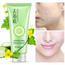 цена на cucumber Peeling Cream Scrub Gel Natural Exfoliating Facial Whitening Brightening Face Exfoliator Peeling Facial Cleanser